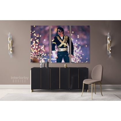 Michael Jackson on Stage Pop Singer Moon Walk Personalised Canvas Dance Moves Print Poster Frame
