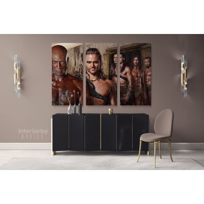 Spartacus Canvas Movie Wall Arts Framed Printed Poster Kids Gaming Zone / Rolled Canvas, Kids Room Gamer Wall Mural Hangings Gift Home Decor