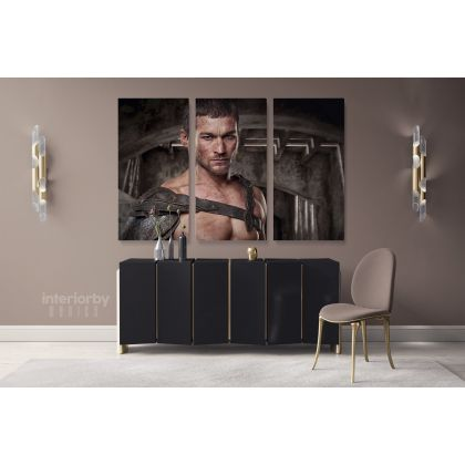 Spartacus Canvas Movie Wall Arts Framed Print Poster Kids Gaming Zone / Rolled Canvas, Kids Room Gamer Wall Mural Hangings Gift Home Decor