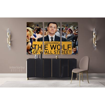 Wolf of the Street Leonardo Dicaprio Movie Wall Art Home Decorations Living Room Bedroom Wall Mural Canvas Wall Hangings Canvas Movie Artwork