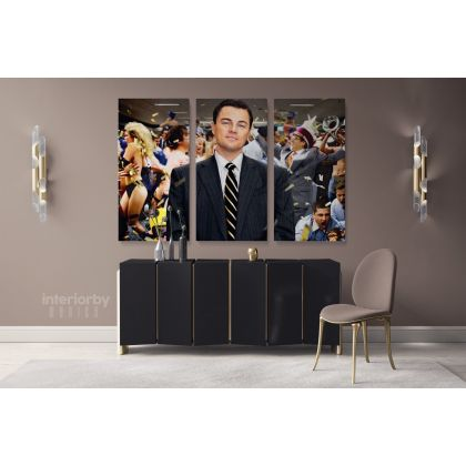 Wolf of the Street Leonardo Dicaprio Movie Wall Art Home Decoration Living Room Bedroom Wall Mural Canvas Wall Hanging Canvas Movie Artwork