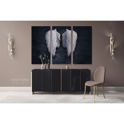 Banksy Style White Angel Wings Banksy Reproduction Wall Artwork Canvas Print Poster Graffiti Urban Wall Mural Hangings Gifts ation