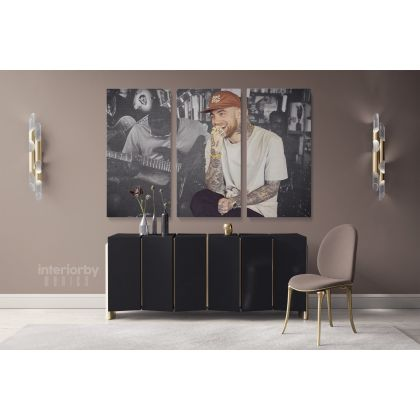 Mac Miller Poster American Rapper Canvas with Frame Hip Hop Artist Print Modern Poster Home Decoration Wall Artwork Wall Mural Hangings Gift