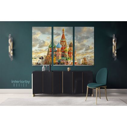 World's Most Beautiful Famous Moscow Photography Canvas Print Photo Artwork Poster Wall Mural Hangings Gifts Home Decor Living Room Bedroom
