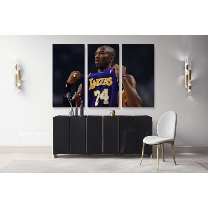 kobe bryant photo print poster canvas or rolled canvas mamba mentality wall art home decor basketball player sports wall mural hangings gift