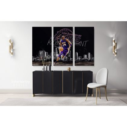 Basketball Player Kobe Bryant Photo Print Poster Canvas or Rolled Canvas Mamba Mentality Wall Art Home Decor Sports Wall Mural Hangings Gift