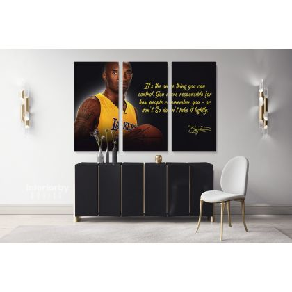Basketball Player Kobe Bryant Motivational Quotes Photo Print Poster Canvas Mamba Mentality Home Decor Sports Wall Art Mural Hangings Gift