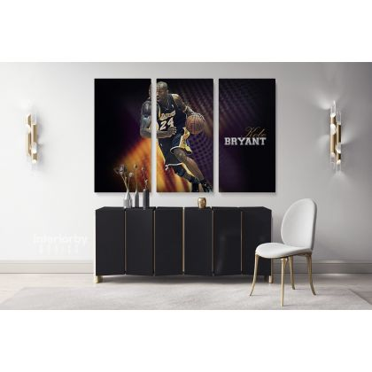 Mamba Mentality Kobe Bryant Basketball Player Photo Print Poster Canvas or Rolled Canvas Home Decor Sports Wall Artwork Mural Hangings Gift