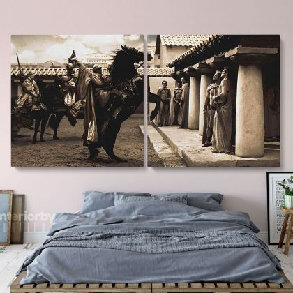 Panoramic Canvas Spartacus Movie Wall Art Framed Print Poster Kids Gaming Zone