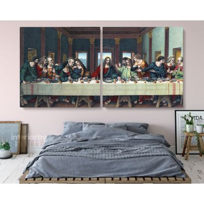 The Last Supper Paintings Framed Wall Art Catholic painting Last Supper Jesus Christ Canvas