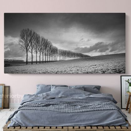 Panoramic Black and White Photography Canvas Wall Artwork Scenery Print Poster and Living Room ation Bedroom Wall Hangings Mural Gift