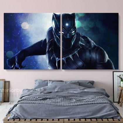 Chadwick Boseman Black Panther Gamer Print Poster Canvas
