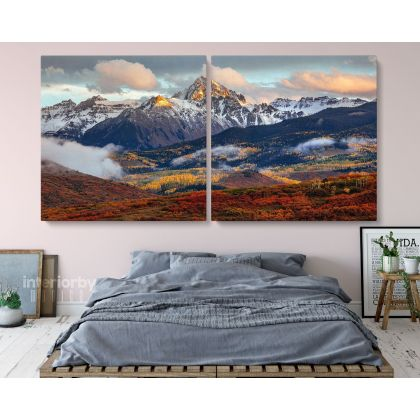 Panoramic Rocky Mountain National Park in Colorado South Summit Canvas