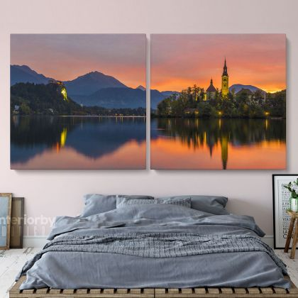 Panoramic Large Natural Landscape Canvas with Frame