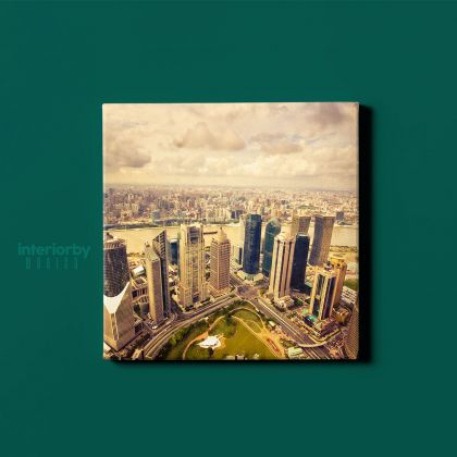 Dubai United Arab Emirates Skyscraper Photography City Buildings Poster Print Canvas