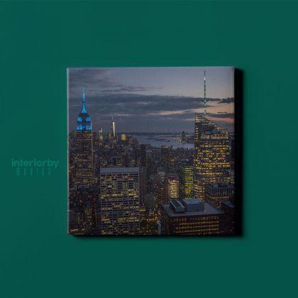 Rockefeller Center Building New York City Photography Poster Print Canvas