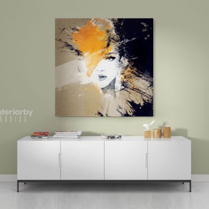 Modern Artwork Painting Women Watercolor Canvas with Frame/Roll Modern Print Poster Living Room Bedroom Mural Gift Wall Hangings