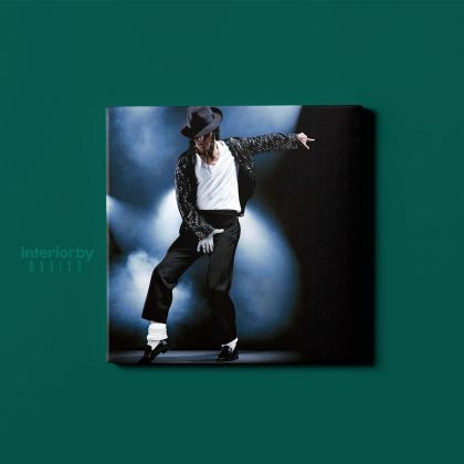 Michael Jackson King of Pop Quote Canvas Mj Dance Moves Wall Art Print Poster Framed Canvas For Mural Wall Art