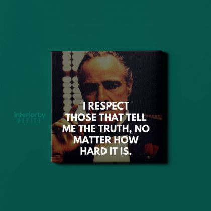 The Godfather Vintage Movies Print Poster Canvas Quote with Frame / Rolled Living Room Bedroom Wall Art Mural Hangings Gift