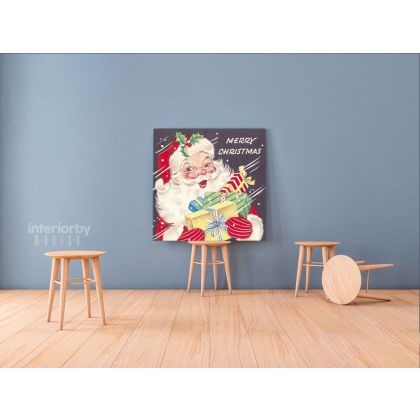Merry Christmas Greeting Gift Print Painting Framed Canvas for Bedroom Wall Hangings Poster