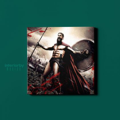 Spartan Soldier Gamer Movie Art Modern Abstract Gaming Zone Warrior Poster Print Canvas