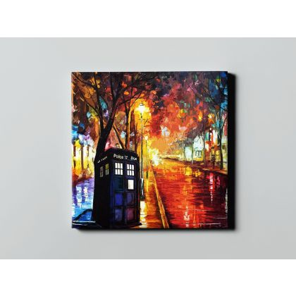 Street of Old Town Palette Knife Oil Painting by Leonid Afremov Canvas Photo Print Home Decor Wall Mural Hanging