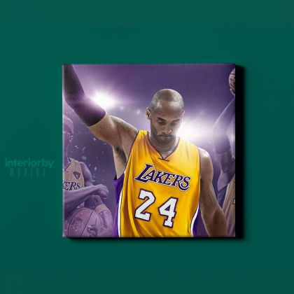 Basketball Player Last Game Kobe Bryant Photo Print on Canvas