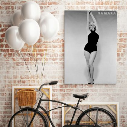 Marilyn Monroe Black and White Canvas Sexy Model Singer Nude Home Decor