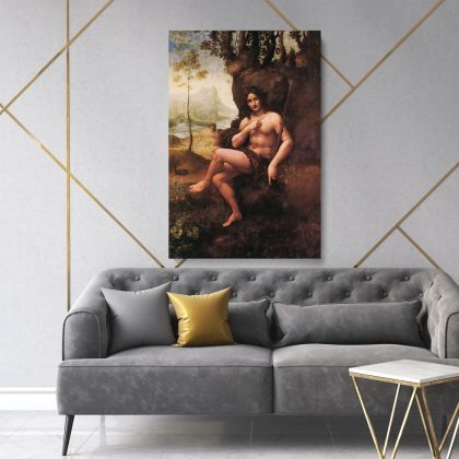 Leonardo Da Vinci Paintings Photo Print on Canvas with Frame Home Decoration Living Room Bedroom Wall Posters Hangings