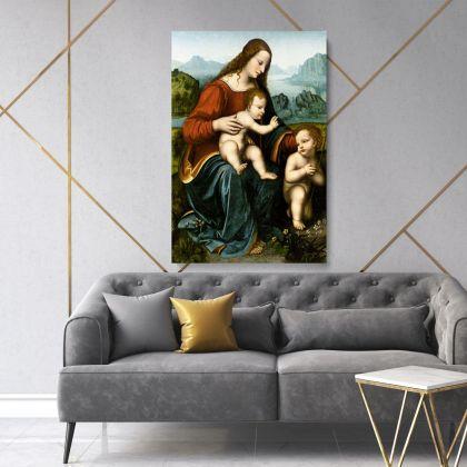 Saint John the Baptist Painting by Leonardo Da Vinci Photo Print on Canvas Home Decor Living Room Wall Mural Hangings Gift