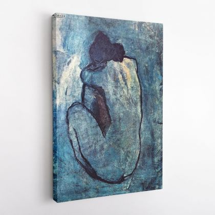 Pablo Picasso: Women Blue Nude Artistic Famous Painting Photo Print Canvas Wall Posters