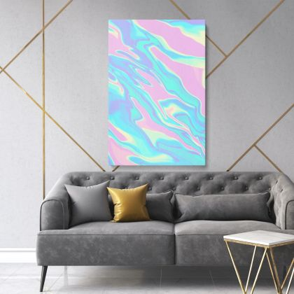 Marble Painting Art Photo Print on Canvas with Frame Wall Mural Hangings Canvas Gift