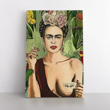 Frida Con Amigos High-Quality Print, Canvas Prints, Wall Decor, Canvas Wall Art, Ready to Hang Canvas, Art, Home Decoration