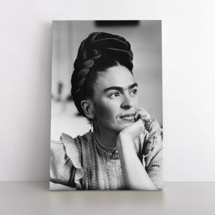 Frida Con Amigos High-Quality Print Canvas, Gifts for Feminist, Artistic Retro Wall, Women Empowerment, Wall Art Home Decor, Black & White Photography