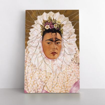 Frida Kahlo Autoportrait Print Canvas, Gifts for Feminist, Women Empowerment, Wall Art Home Decor, Ready to Hang Canvas, Art, Home Decoration