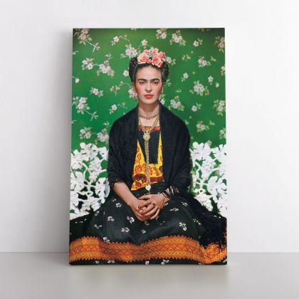 Frida Kahlo White Bench Photo Print on Canvas, Wall Art Home Decor, Ready to Hang Canvas, Art, Home Decoration