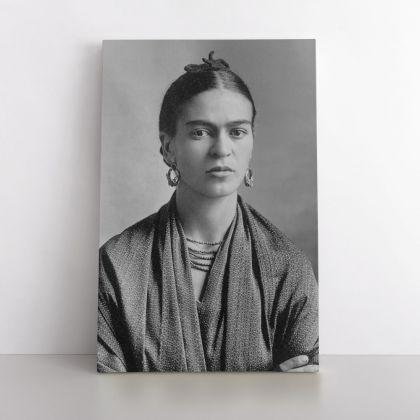 Frida Con Amigos High-Quality Print Canvas, Artistic Retro Wall, Women Empowerment, Wall Art Home Decor, Black & White Photography