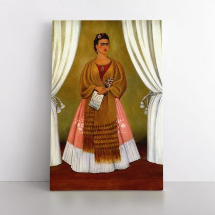Frida Self-portrait Photo Print on Canvas, Wall Art Home Decor, Ready to Hang Canvas, Art, Home Decoration