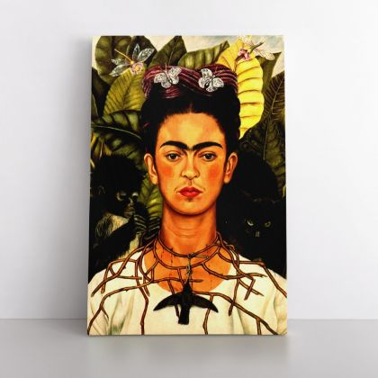 Self-Portrait with the Collar of Spines Painting Photo Print on Canvas, Wall Art Home Decor, Ready to Hang Canvas, Art, Home Decoration