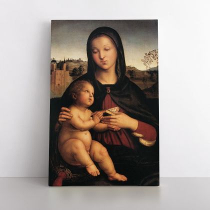 Raphael Raffaello Sanzio da Urbino Madonna and Child Photo Print on Canvas, Wall Art Home Decor, Wall Hangings