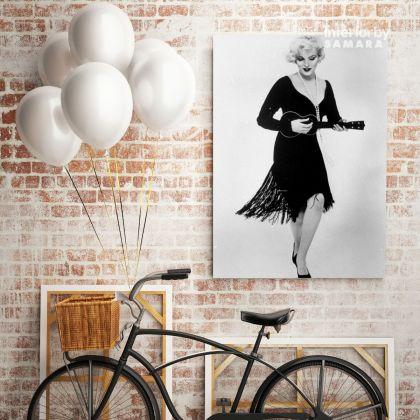 Marilyn Monroe Black and White Canvas Sexy Model Singer Nude Photo Poster Print on Canvas Frame Home Decor
