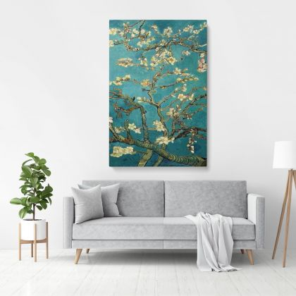 Vincent Van Gogh Painting Almond Blossom Abstract Painting Photo Print on Canvas Frame Wall Art Mural Home Decor
