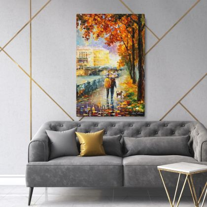 Palette Knife Art Oil Painting by Leonid Afremov Photo Print on Canvas with Frame Home Decor Wall Posters Gift