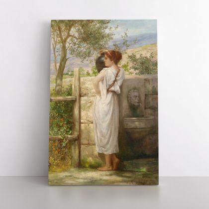 Henryk Hector Siemiradzki: Famous Artist At the Well Painting Print on Canvas