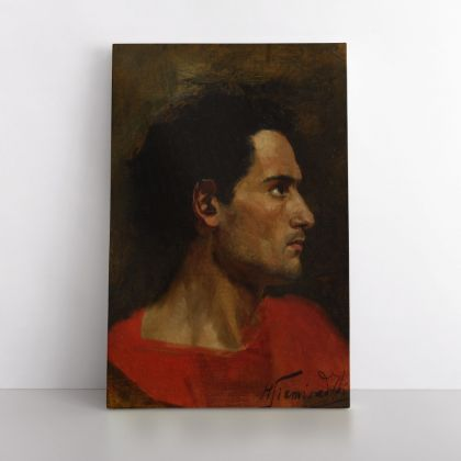 Henryk Hector Siemiradzki: A Art Painting of a Men Photo Print on Canvas