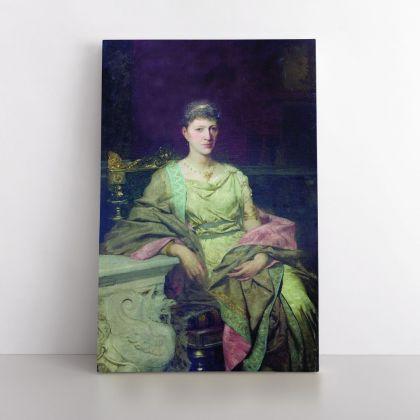 Henryk Hector Siemiradzki Portrait of Women Photo Print on Canvas