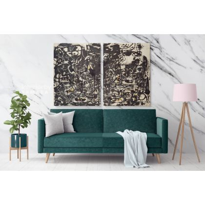 Jackson Pollock Abstract Expressionism Painting Canvas Photo Print Home Decor Bedroom Wall Posters Mural Gift