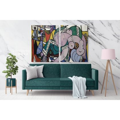 Pablo Picasso: Famous The Studio 1934 Artistic Modernism Painting Photo Print on Canvas Home Decor Wall Posters
