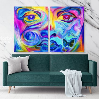Abstract Art Home Decor Painting Photo Print on Canvas with Frame Artworks Wall Posters Hangings Gift