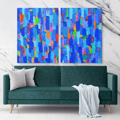 Home Decor Abstract Art Painting Photo Print on Canvas with Frame Artworks Wall Mural Hangings Gift